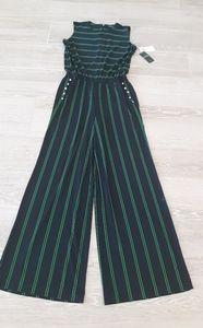 NWT RALPH LAUREN NVY Striped Jumpsuit